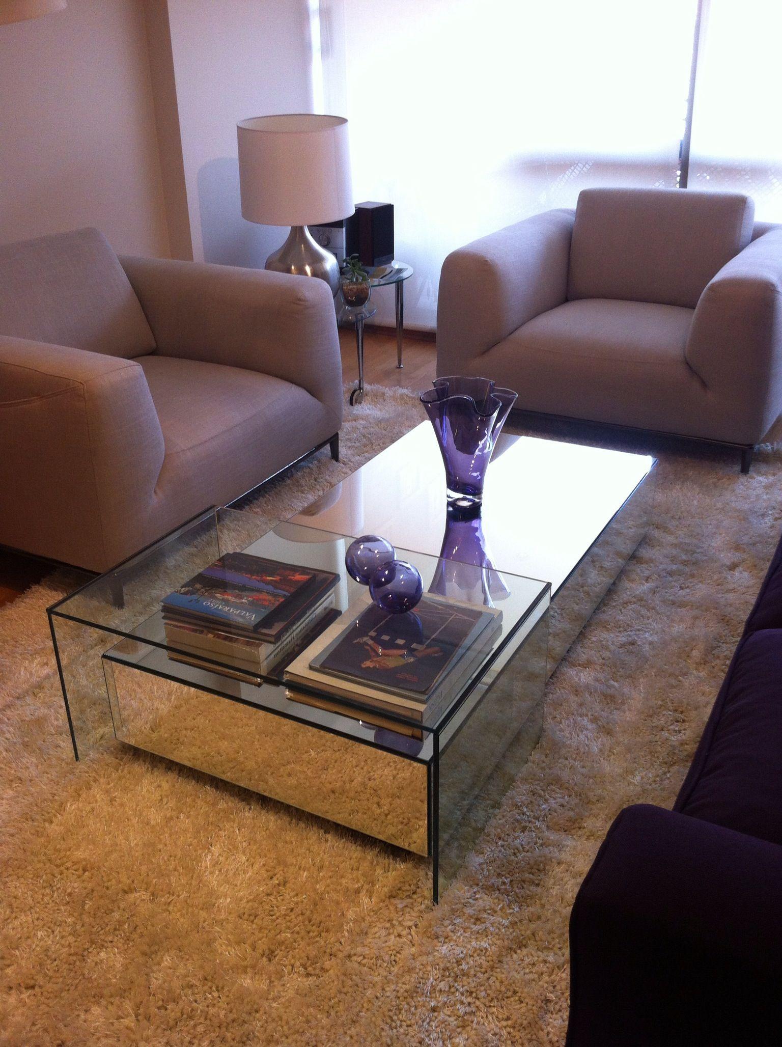 Mesa centro espejo decoraci n pinterest mesas for Espejos para mesa