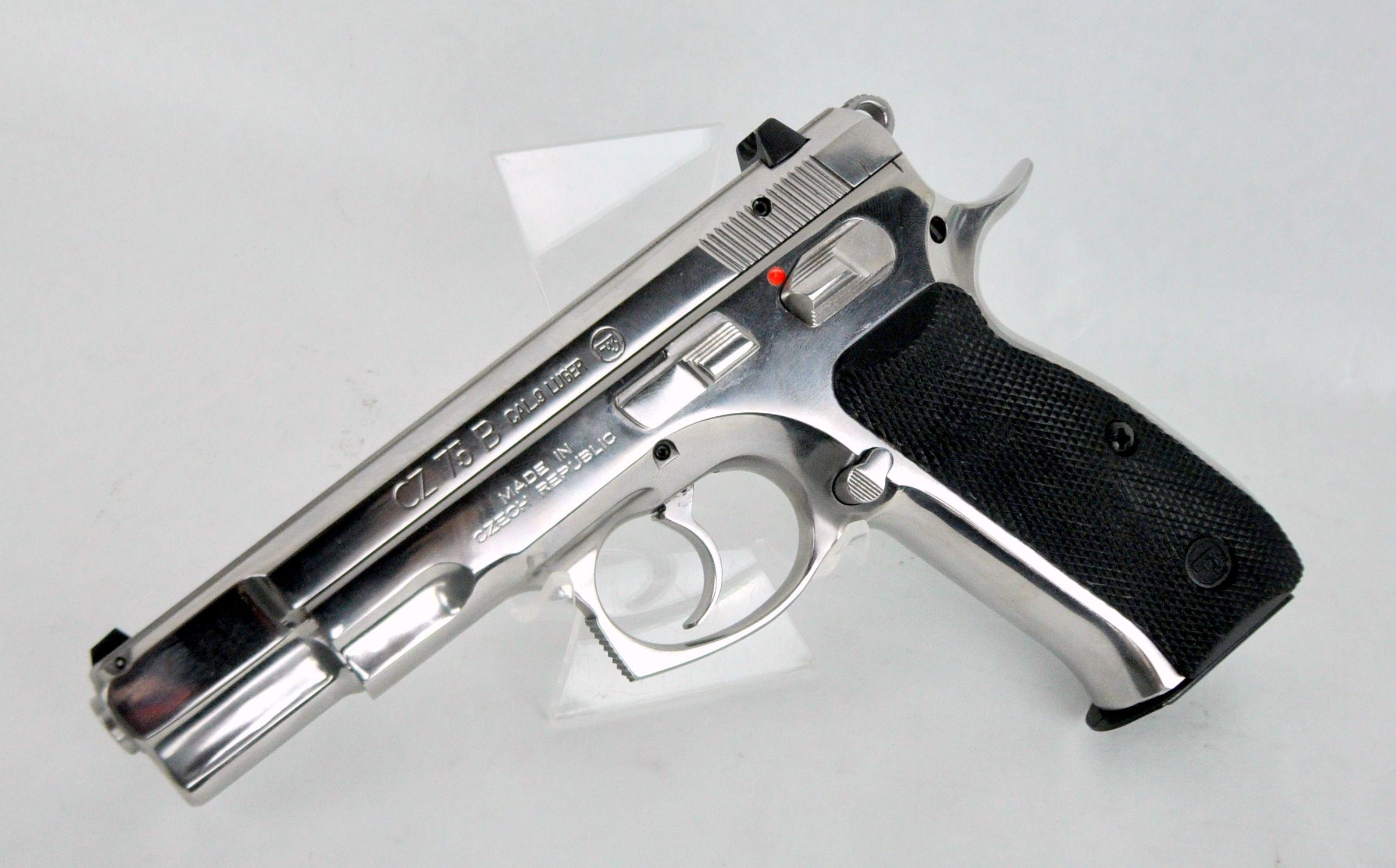 CZ USA CZ 75 B Polished Stainless 9mm 4 6