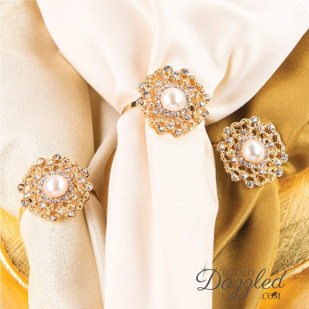 giveaway win rhinestone napkin rings bulk flower