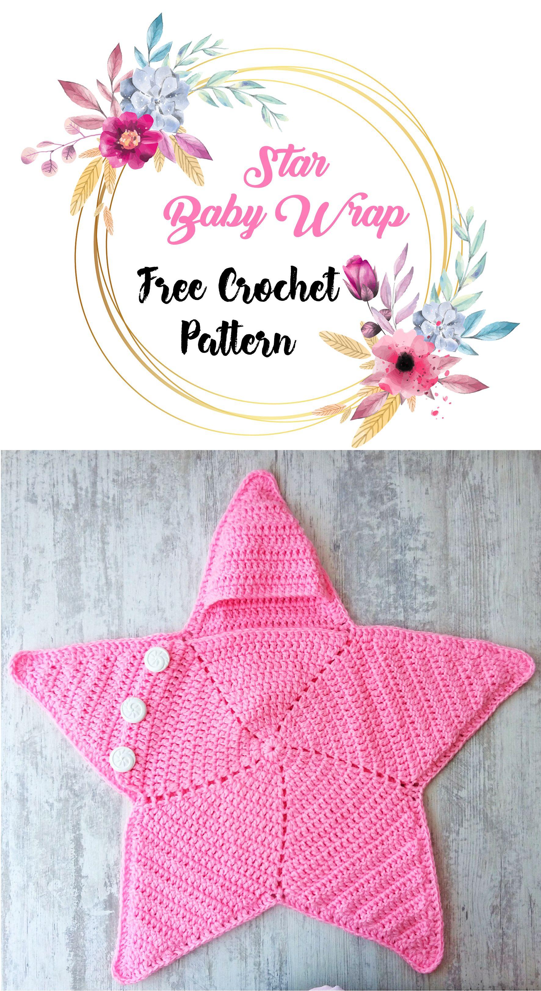 Crochet Baby Star Blanket Wrap Cozy Free Pattern Crochet Wrap