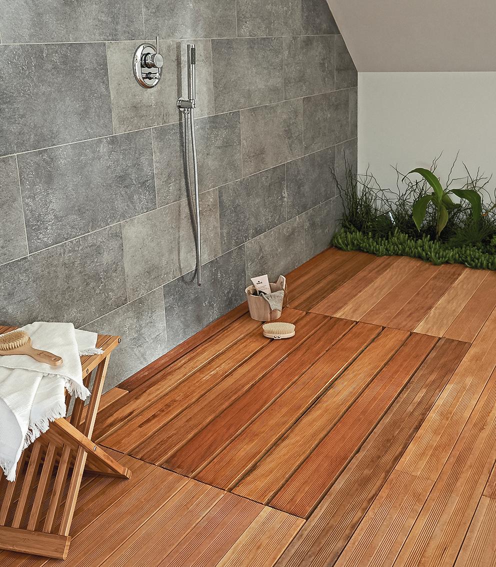 Pingl par claudine lincoln sur salle de bain avec - Faience salle de bain zen ...