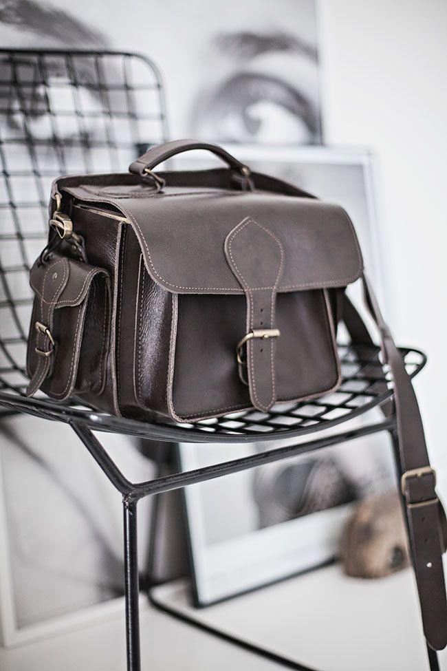 Brown Leather Camera Bag By Grafea Co Uk