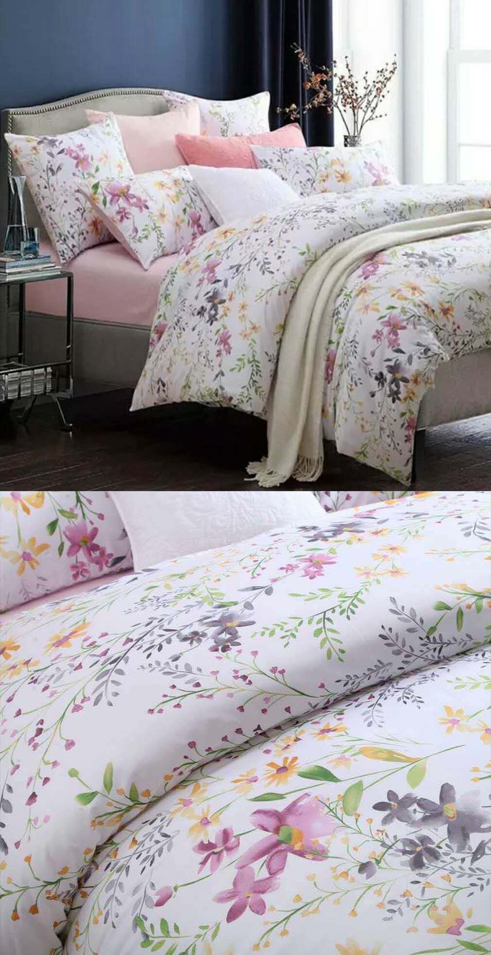 Botanical Egyptian Cotton Duvet Cover Set