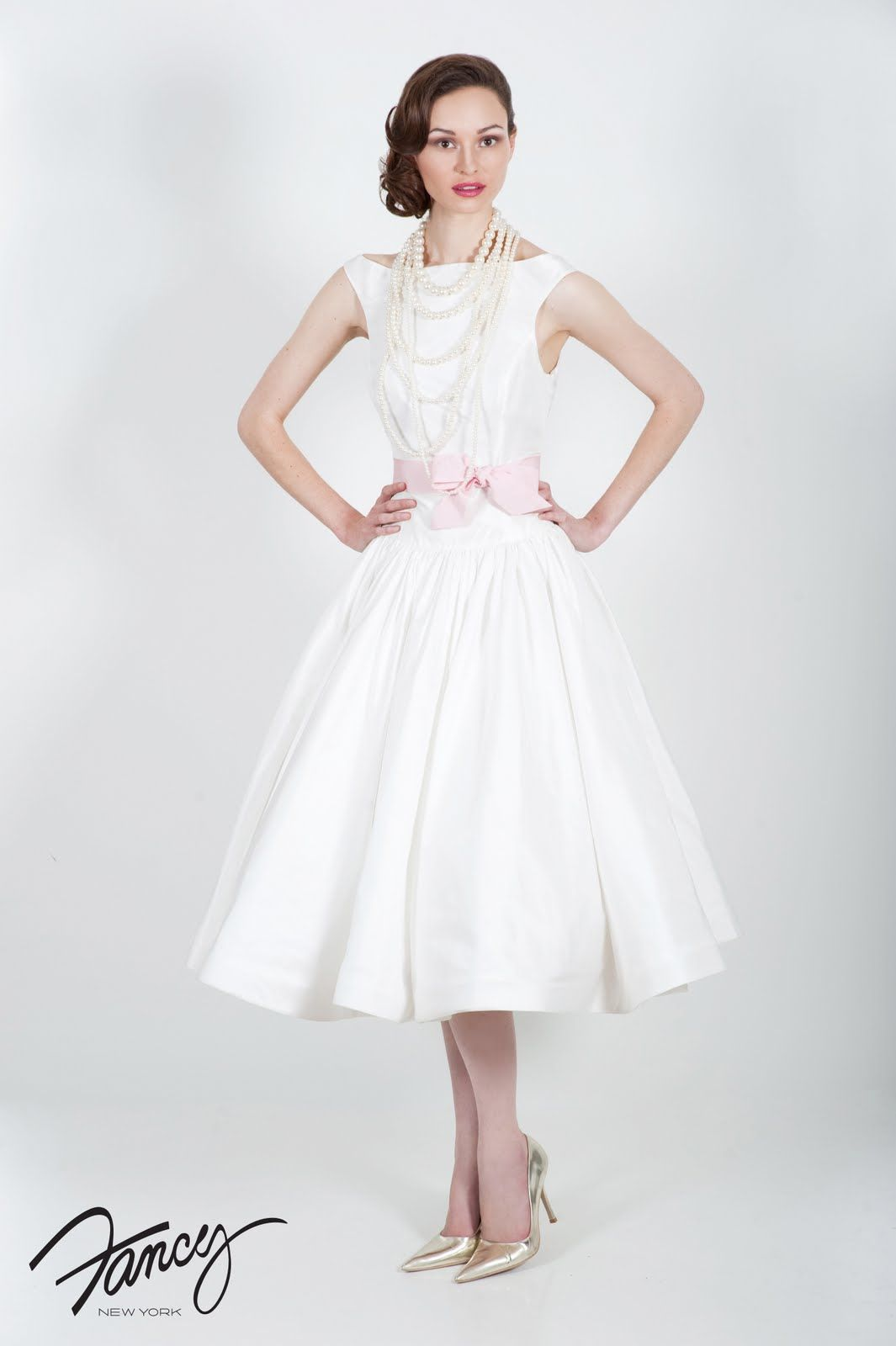 Something White: Tea Time: Tea Length Wedding Dresses | 50s ...