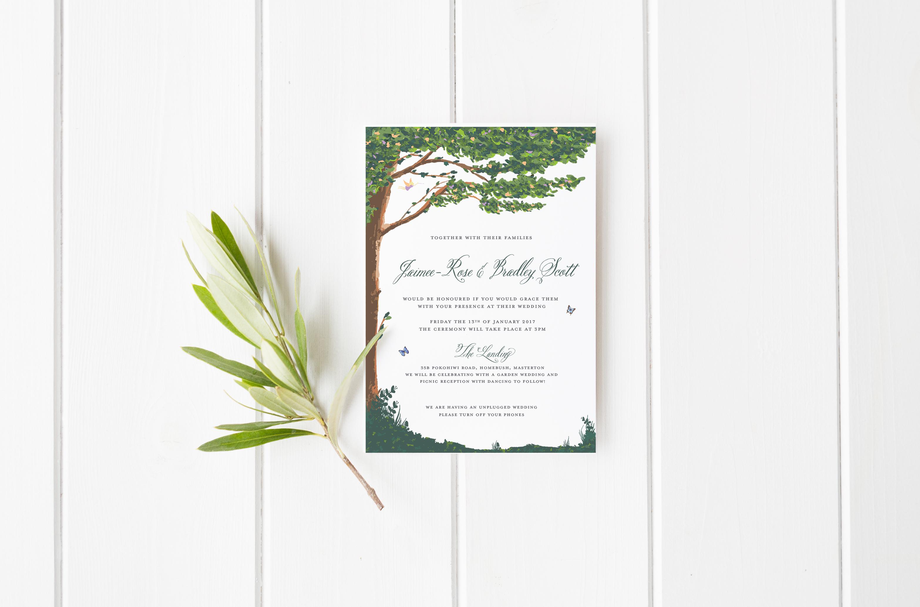 Custom designed wedding stationery from Sunny & Swoon Design ...