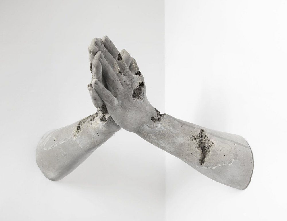 New Hydrostone Sculptures by Daniel Arsham Isolate Human Gestures