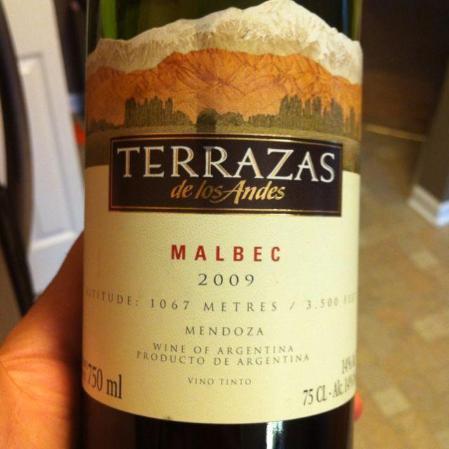 2009 Terrazas Malbec From Mendoza Argentina In 2019