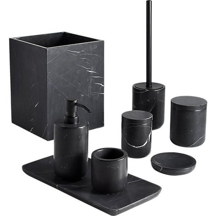 Home Goods Luxury Custom 5 Star Hotel Natural Gray Black Marble Stone Bathroom Accessories Set For Resin Ho In 2020 Marble Bath Black Marble Black Bathroom Accessories