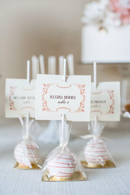 gastgeschenk tischkarte cake lollipop escort favors escortcard later pinterest wedding. Black Bedroom Furniture Sets. Home Design Ideas