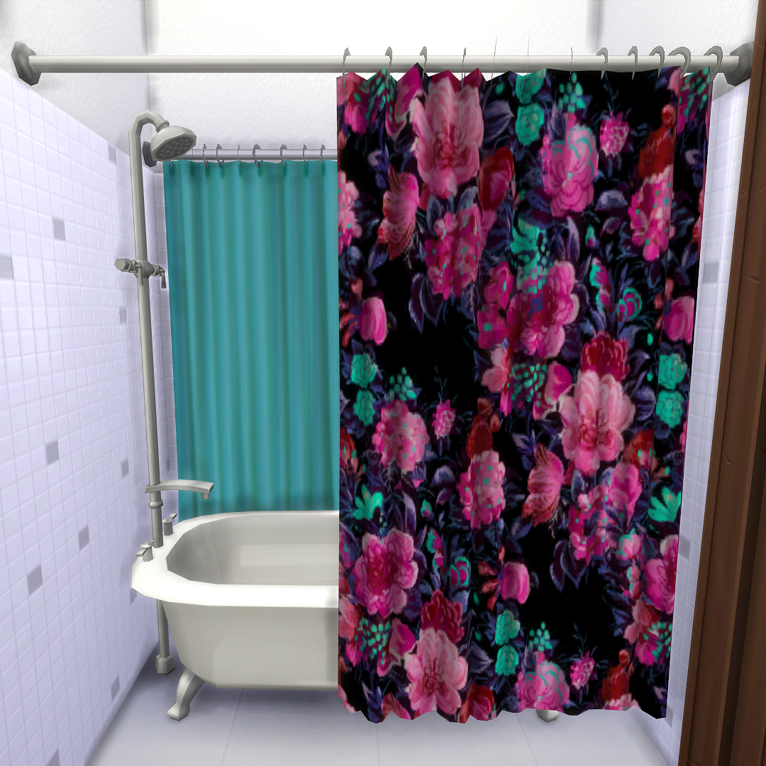 The Sims 4   Curtainless Shower/Tub - base game edit by ...