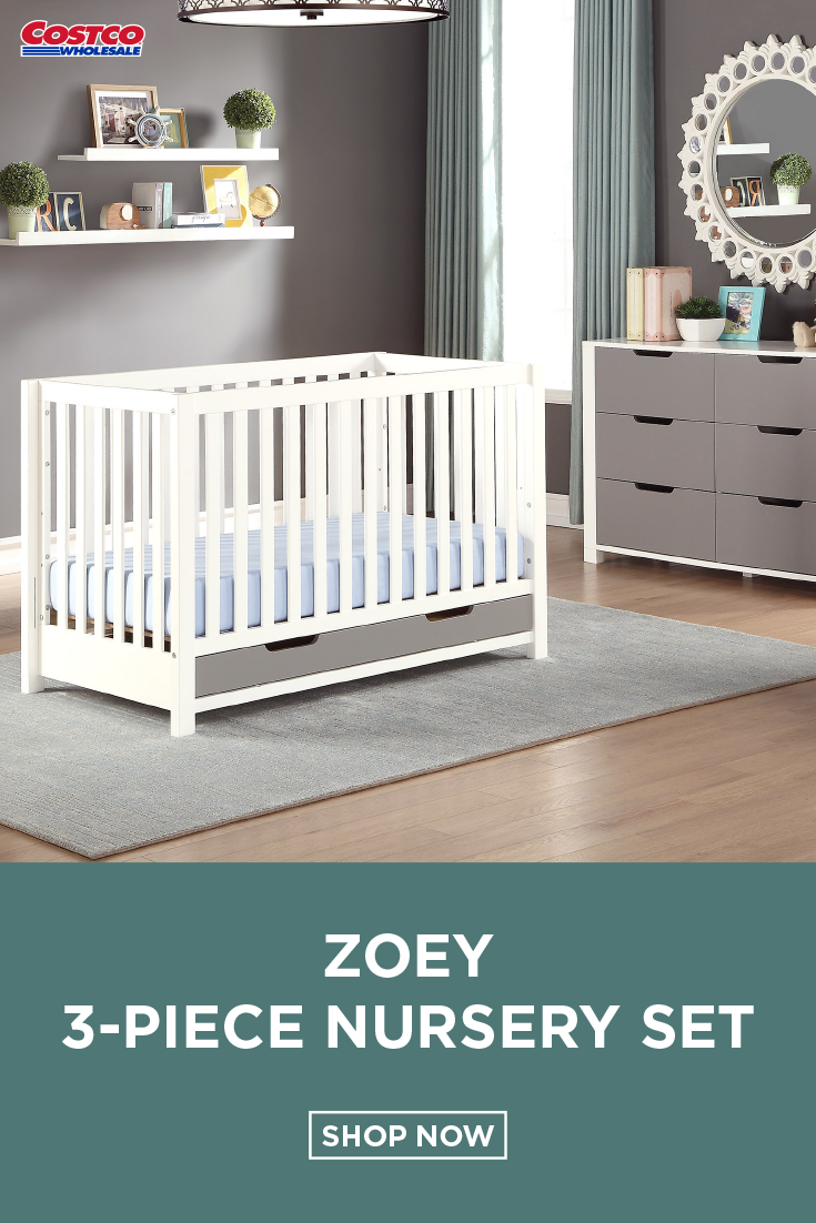 Zoey 3 Piece Nursery Set Crib Design Cribs Nursery Furniture Sets