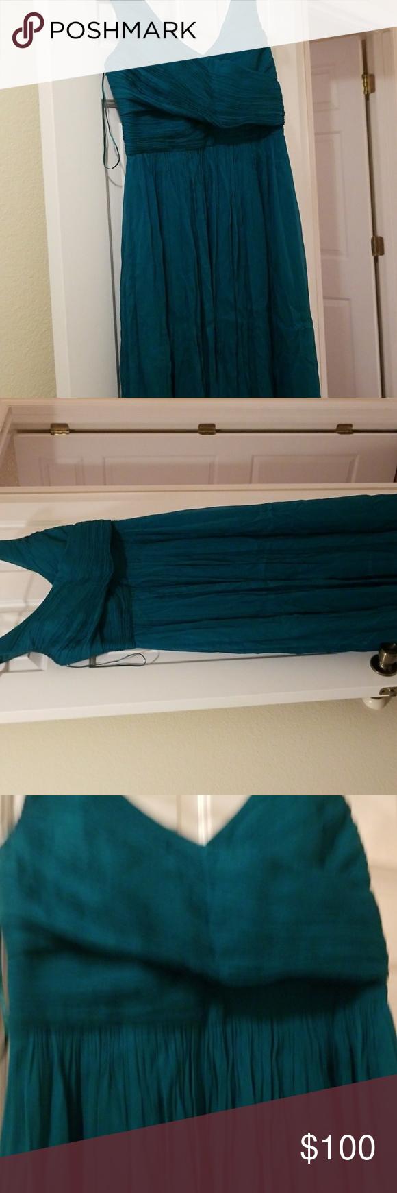 J crew bridesmaidprom dress teal worn once bridesmade dresses