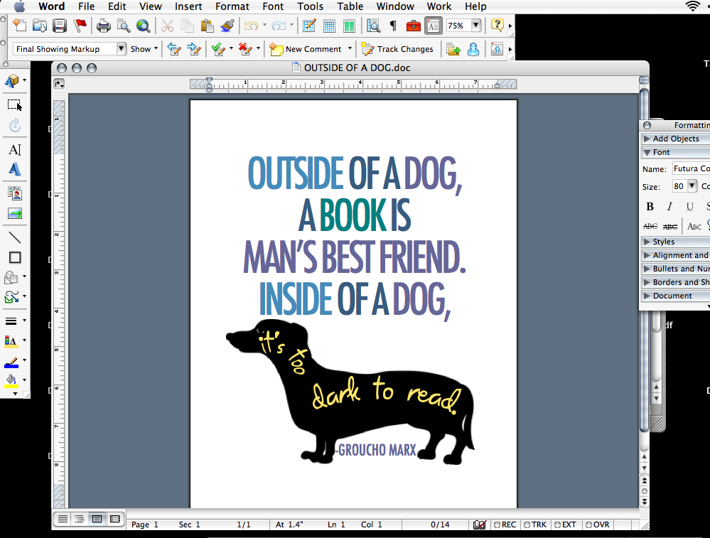 What is the best way to create word art in Microsoft Word?