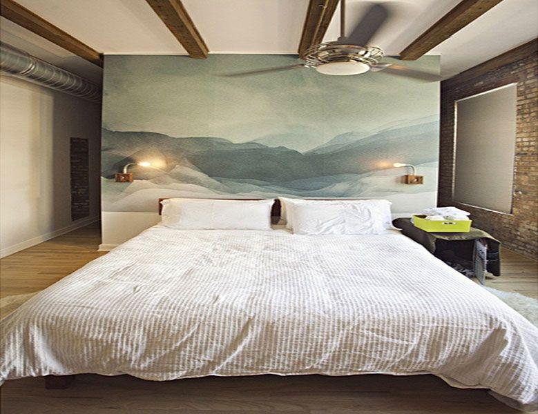 Gut Красивое оформление изголовья кровати
