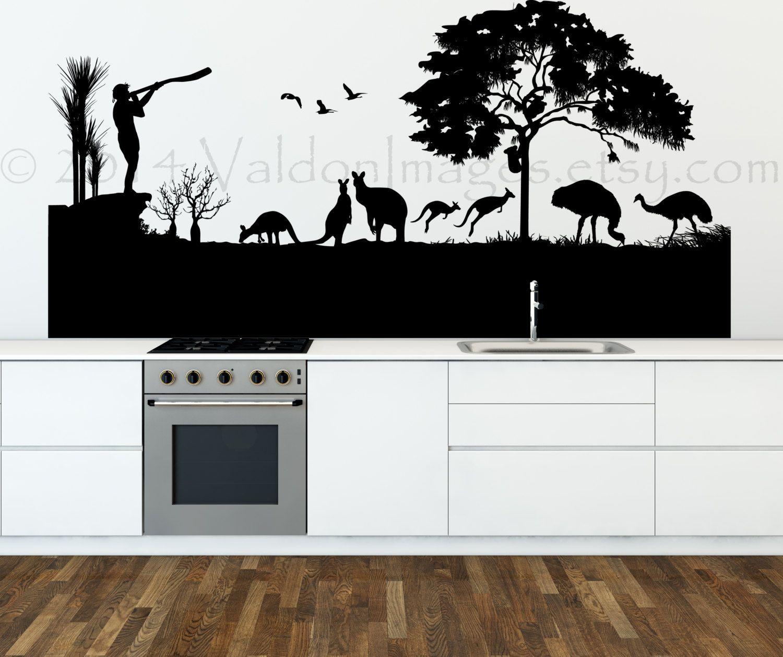 Australian Landscape Wall Decal Vinyl Wall Decal Australia Wall - Custom vinyl stickers australia the advantages