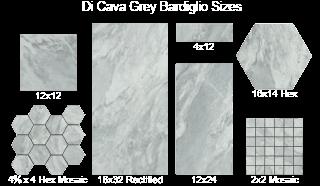Di Cava Bardiglio 12x12 12x24 16x32 2x2 Square Mosaics 4x12 Field 3x12 Bullnose 16 X14 Hexagon Ti Granite Quartz Countertops Flooring Store Stone Flooring