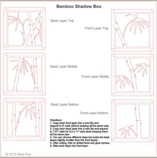 Ashbee Design Silhouette Projects  D Bamboo Shadow Box  E  A Silhouette Tutorial