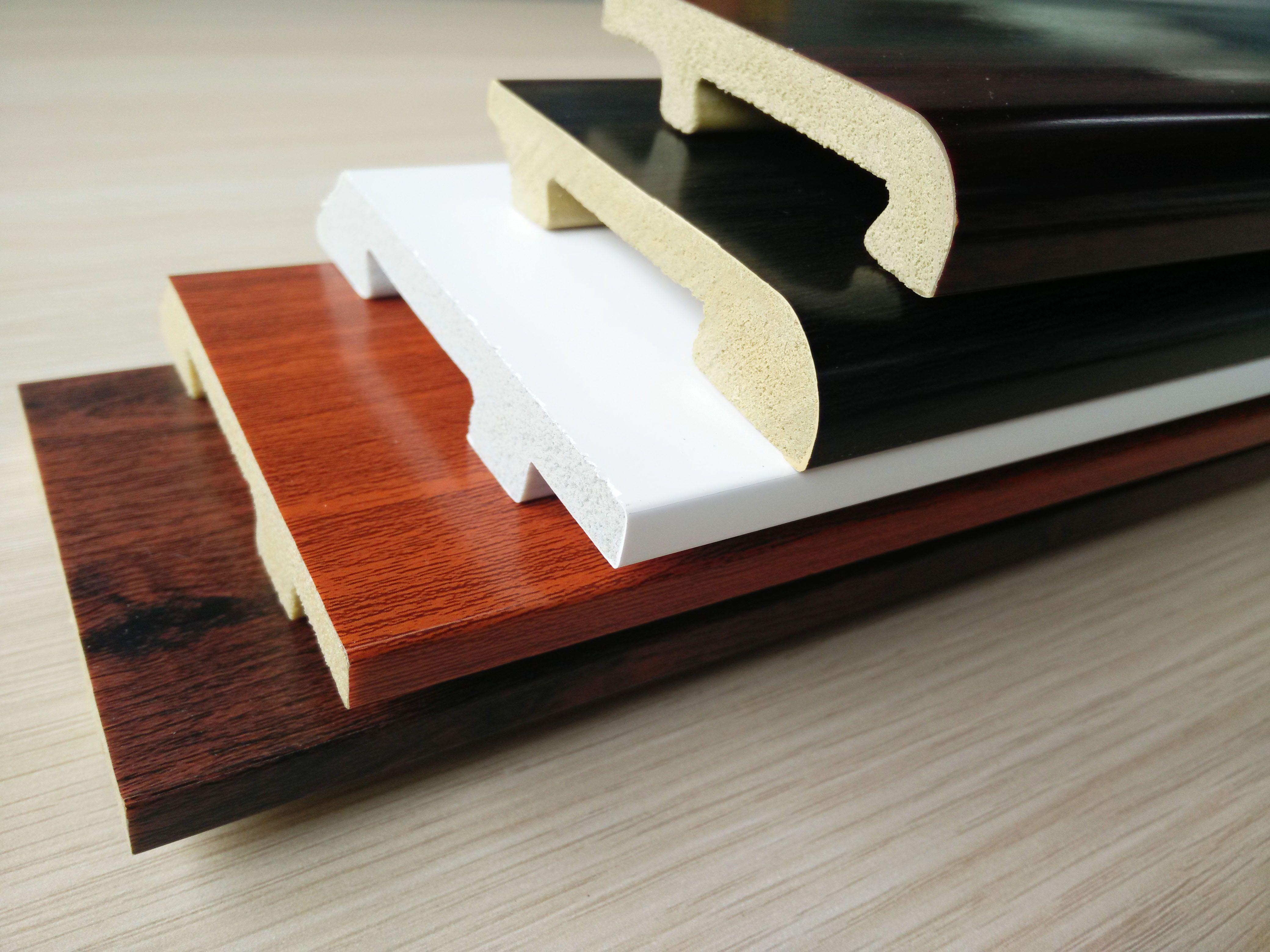 Skirting Board Ps Material Light In Weight Waterproof Anti Moth Environment Friendly Formaldehyde Free Hanflor Vinyl Wood Flooring Wood Vinyl Wood Floors