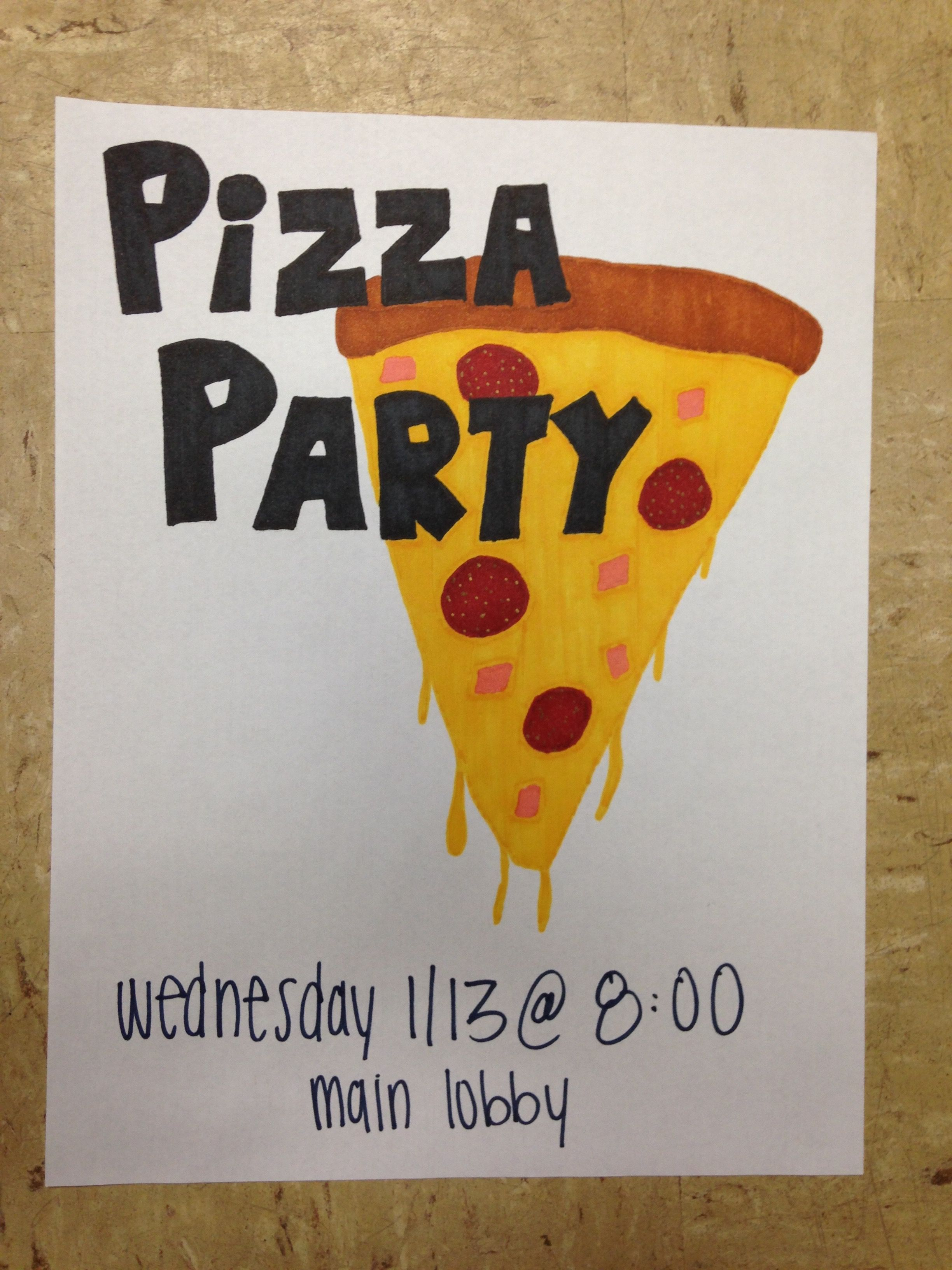 Ra Program Flyer  I Served Pizza And Taught Residents