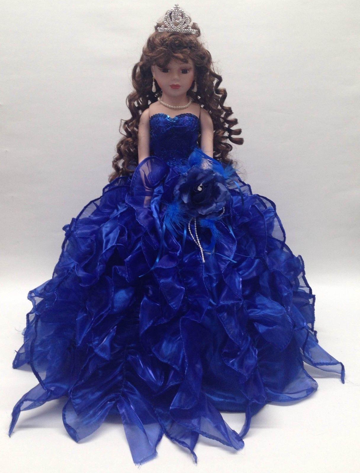 porcelain dolls | 18 inch Porcelain Umbrella Dolls Quince Anos Pink ...
