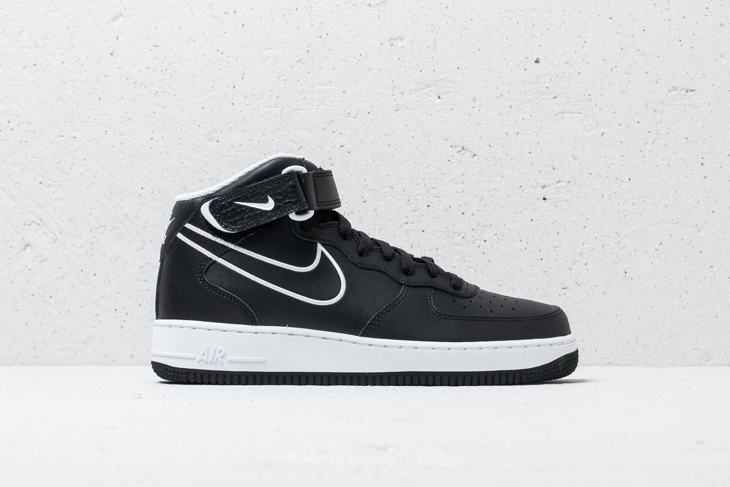 reputable site 302d8 5090c Nike Air Force 1 Mid  07 Leather  Black  White    137