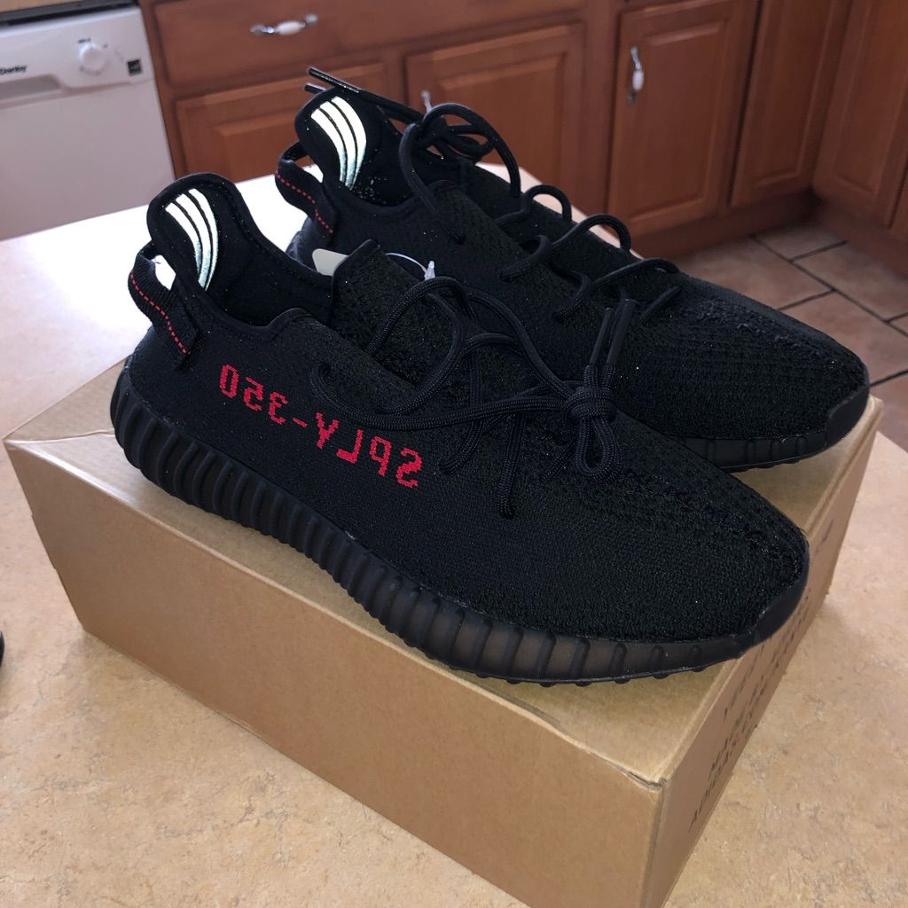 Yeezy Shoes Adidas Yeezy Boost 350 V2 Black Red Ua Color