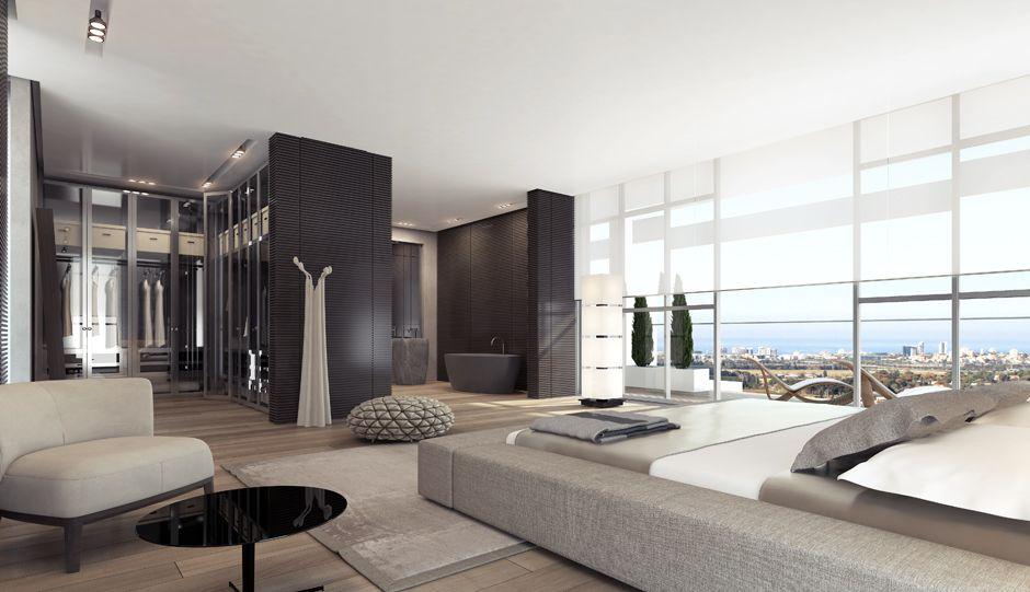 Master Bedroom Walk In Closet Minimalist Interior Stunning Decorating Design