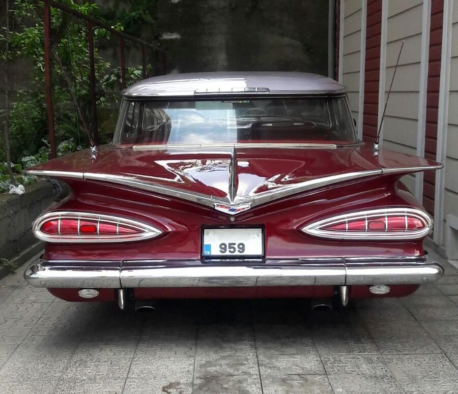 Glorious Back End Of A 1959 Chevrolet Impala Oc Chevrolet