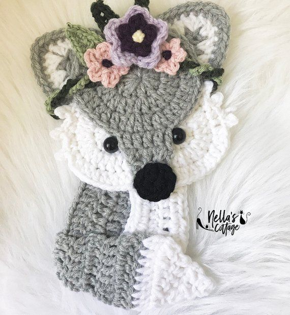 Crochet Pattern - INSTANT PDF DOWNLOAD - Fox - Boho Fox - Crochet Fox - Woodland Animals - Boho Fox Pattern - Nellas Cottage - Patterns #crochetapplique *PATTERN WRITTEN IN US TERMS ONLY *INSTANT PDF Download - NOT for completed items *Pattern is for APPLIQUES only.  *Skill level for this pattern is beginner to intermediate *Written Instructions and Photo Tutorials when necessary *Appliques work up to be about 7 tall with 3.75mm hook *All supplies needed are listed in the pattern *All patterns #crochetapplicates