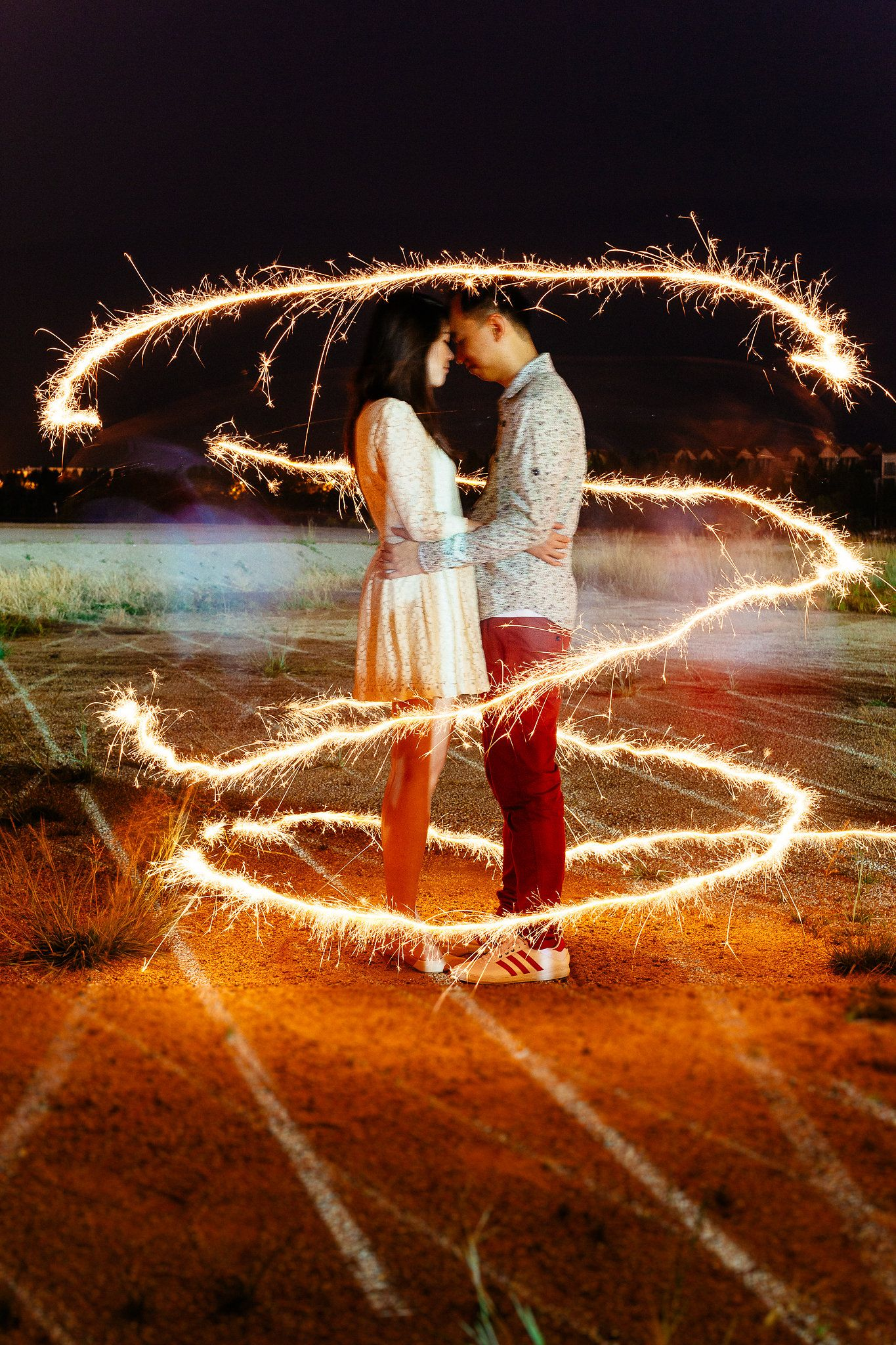 Romantic light painting with sparklers. Photography by Jonah Sun ... for Light Painting Photography Wedding  155fiz