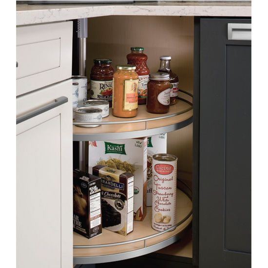 this suzie q revolving self closing lazy susan by hafele is adjustable from 25 35 high on kitchen organization lazy susan cabinet id=93346