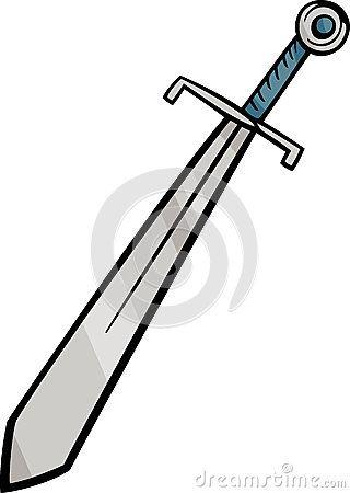 Sword Clip Art Cartoon Illustration By Igor Zakowski Via Dreamstime Cartoon Illustration Clip Art Cartoon