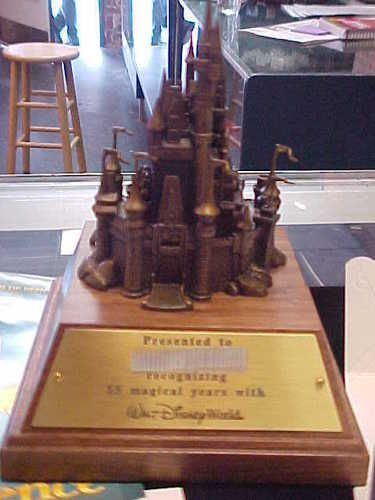 Disney World 15 Year Cast Member Service Award Bronze