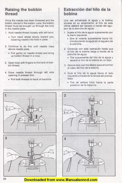 Singer 7015 Sewing Machine Instruction Manual Examples include - instruction manual