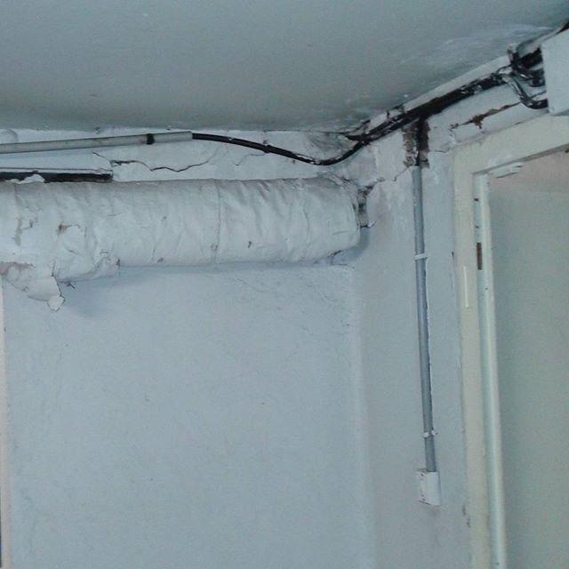 Calorifugeage Plâtreux Amianté Dans Cave D Une Maison à