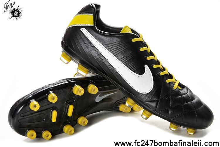 Discount Black-White-Bright Yellow Nike Tiempo Legend IV Elite FG Boots Shop