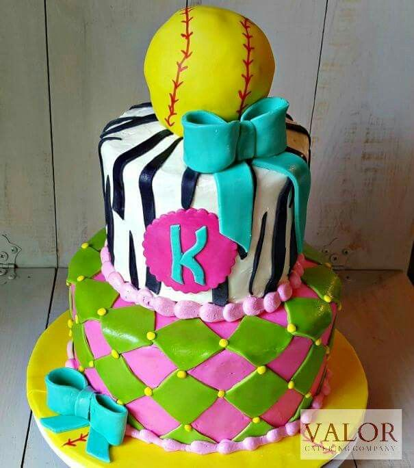Softball cake Stacked Valor made