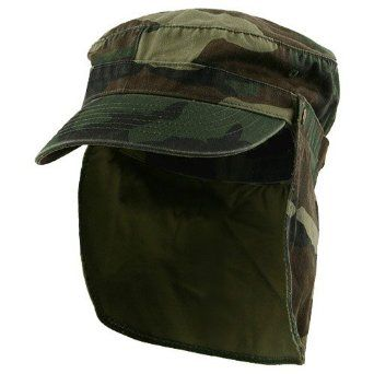 Army Cap with Flap-Camo W15S44A