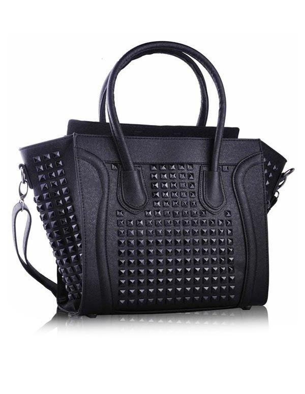 Studded Black Tote Bag 33