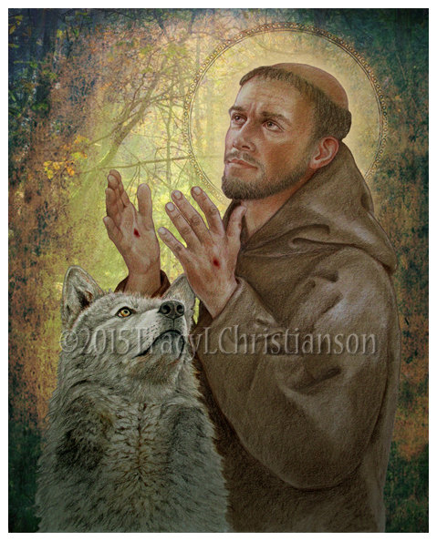 Hey, I found this really awesome Etsy listing at https://www.etsy.com/listing/246582511/st-francis-of-assisi-b-art-print