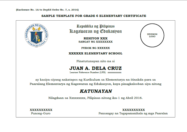 Sample template grade 6 10 12 certificate deped lps deped sample template grade 6 10 12 certificate deped lps yadclub Choice Image