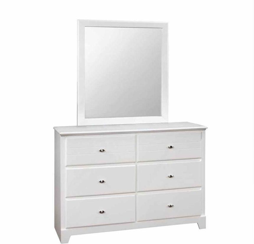 Cof400763 dresser white 6 drawer dresser small white