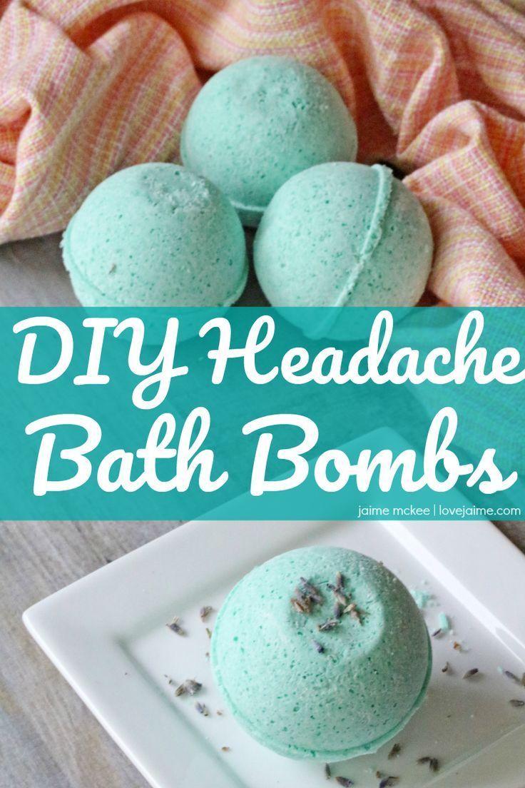 DIY Headache Bath Bombs (with essential oils) | Bath bomb ...