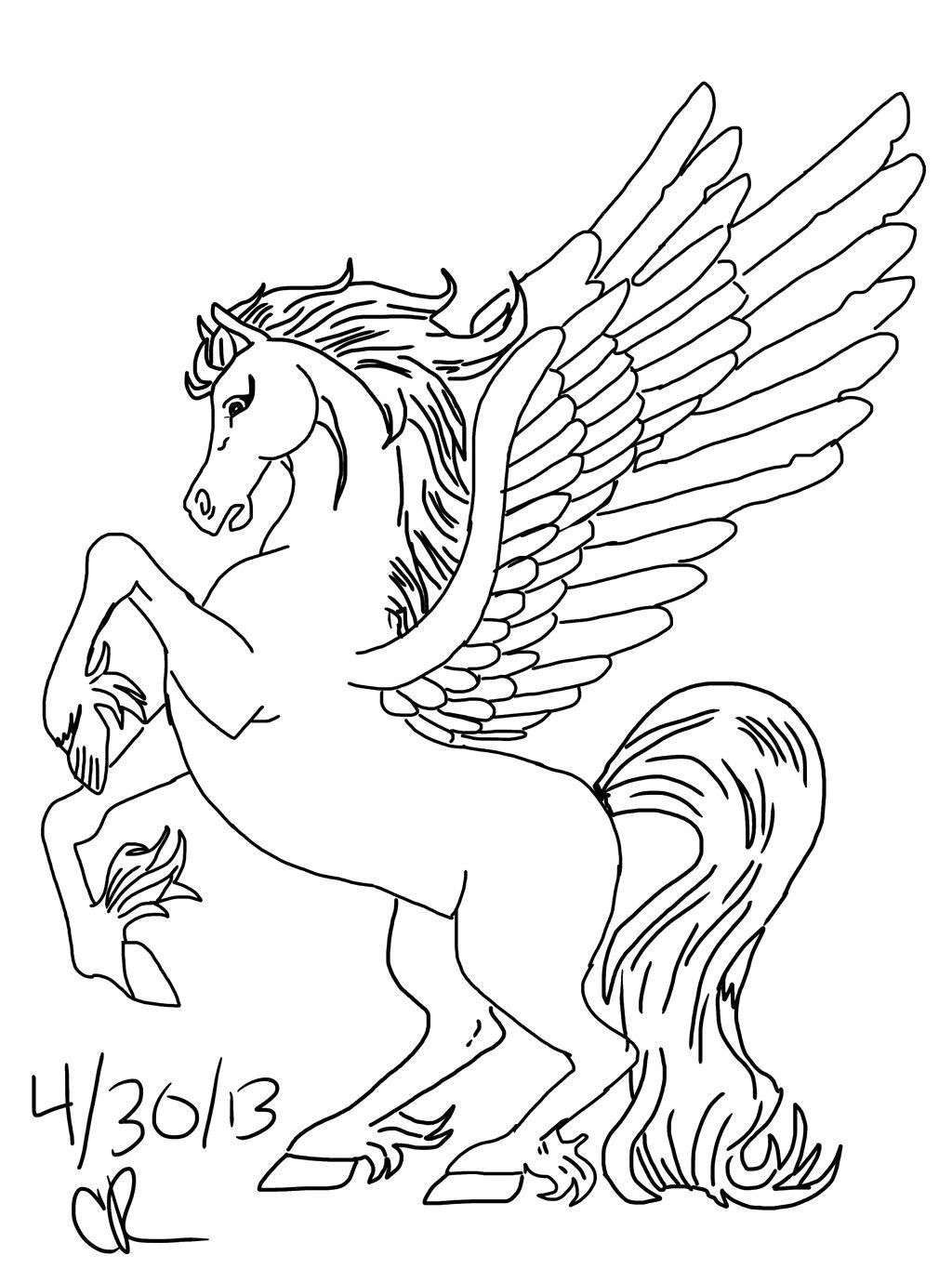Unicorn With Wings Coloring Page Youngandtae Com Unicorn Coloring Pages Horse Coloring Pages Coloring Pages