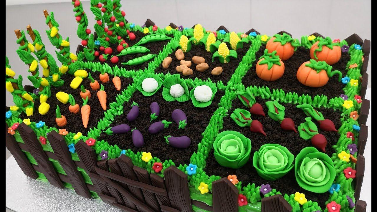 How To Make A Vegetable Garden Cake By Cakes Stepbystep Youtube Vegetable Garden Cake Vegetable Cake Garden Cakes