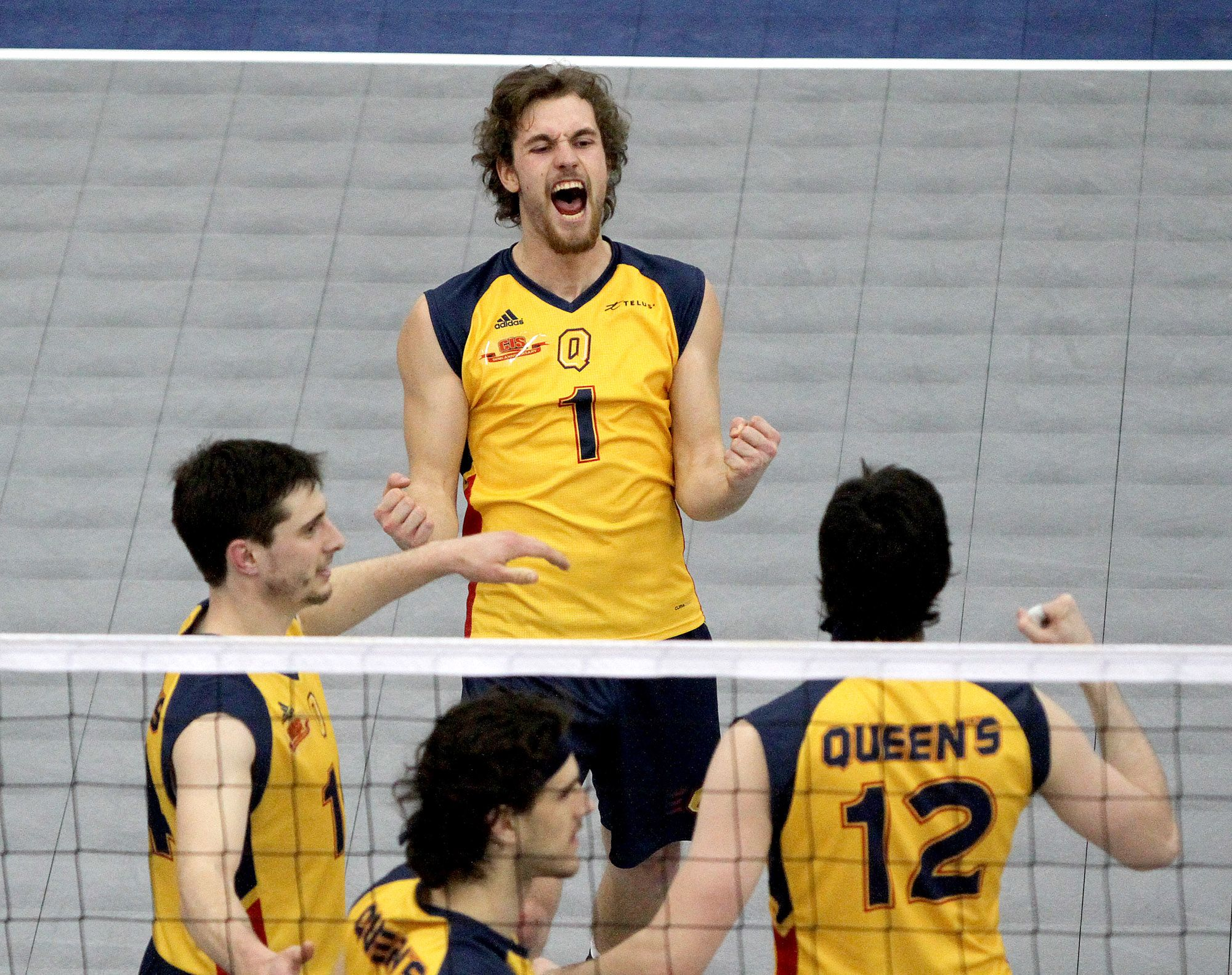 Will Sidgwick Celebrates A Point Against Alberta In The Cis Men S Volleyball Championship Ian Macalpine With Images Mens Volleyball Celebrities Volleyball