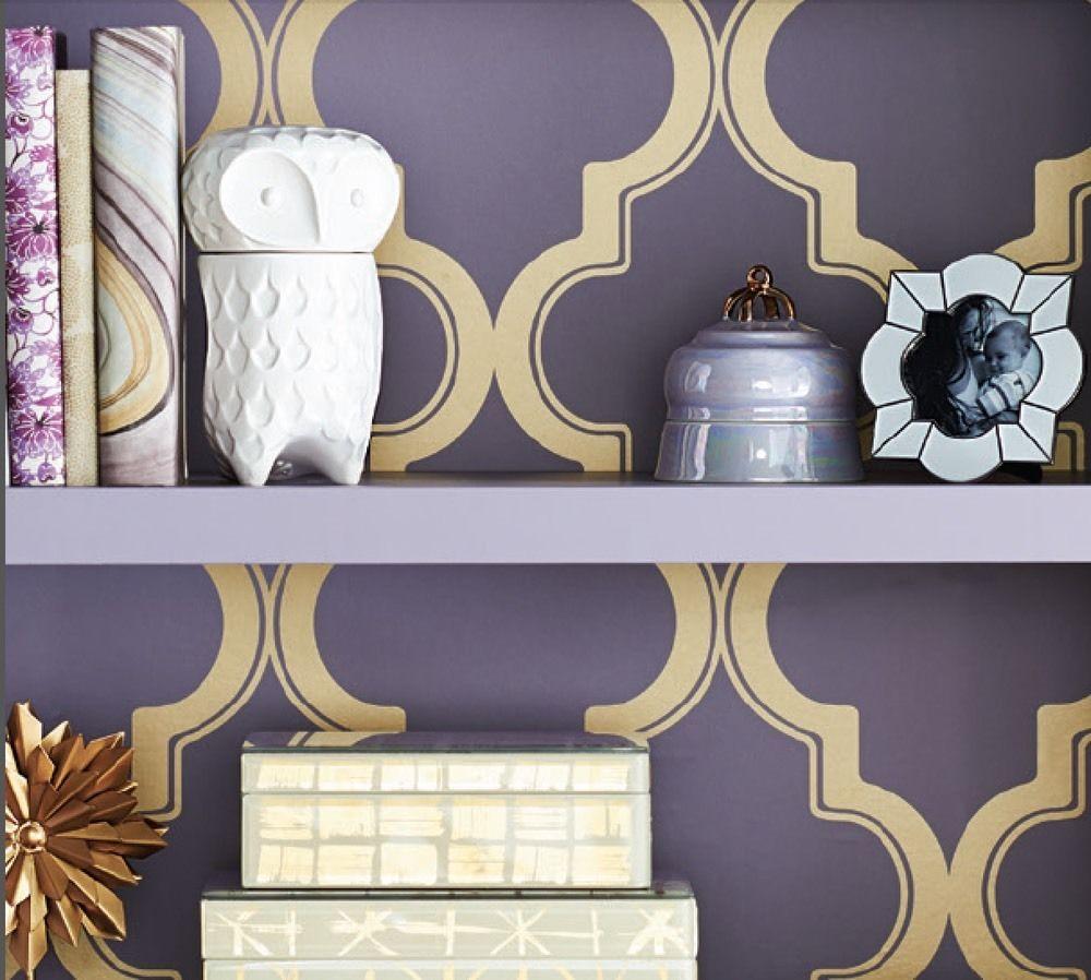 Devine Color Peel Stick Wallpaper Cable Stitch Starlight Target Purple Gold
