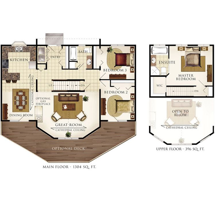 Taylor Creek Ii Beaver Homes And Cottages Custom Home Plans Cabin House Plans