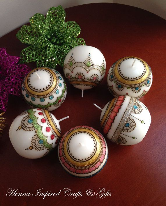 Decorative Candles Henna Candles Round Candles Wedding Favors