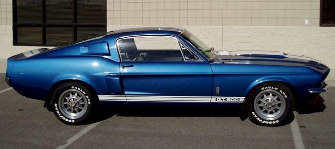 Acapulco Blue 1967 Mustang Shelby Gt 500 Fastback Autos Clasicos